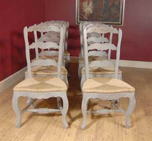 English, Farmhouse, Painted, Ladderback, Chair, U0026, Kitchen, Refectory, Table, Set