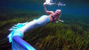 Blue Tailed Mermaid Melissa  Peaceful Relaxing Background