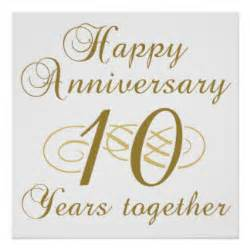 tenth wedding anniversary 10th wedding anniversary posters 10th wedding anniversary wall