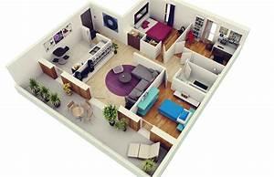 50, three, , u201c3, u201d, bedroom, apartment, , house, plans