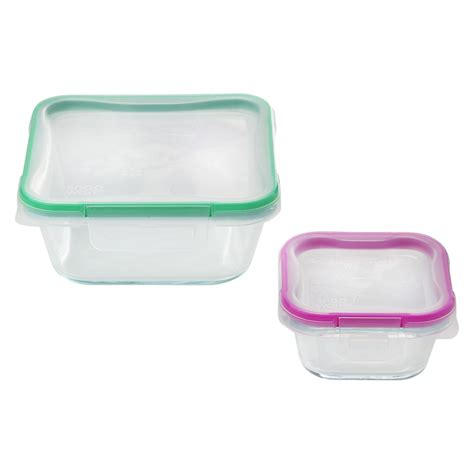 solution cuisine snapware total solution pyrex glass 4 pc square food