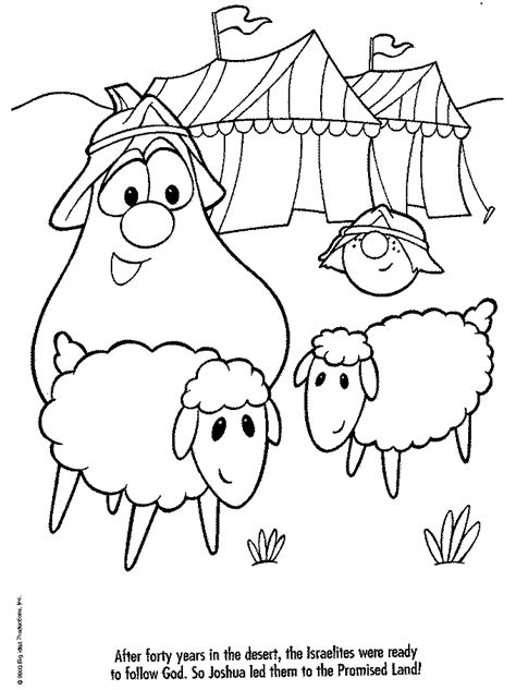 veggie tales coloring pages   print