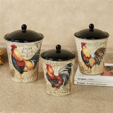 rooster canisters kitchen products gilded rooster kitchen canister set