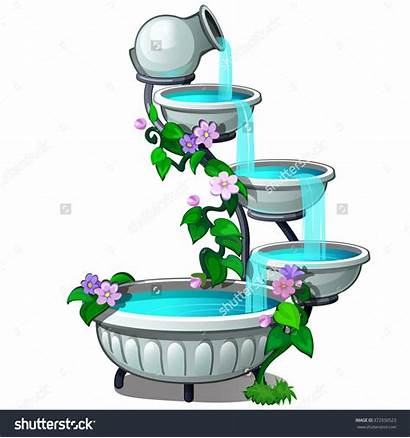 Fountain Clipart Drinking Traditional Vector Clipground Tiered