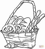 Bread Coloring Pages Basket Pretzels Popcorn Printable Snacks Snack Bag Supercoloring Pretzel Getcolorings Von Food Clipart Print Brotkorb Easter Getdrawings sketch template