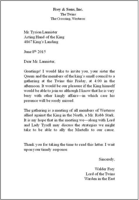 standard business letter format letters  sample