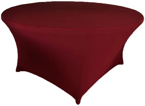 Burgundy Cover by 48 Quot Burgundy Spandex Tablecloths Covers