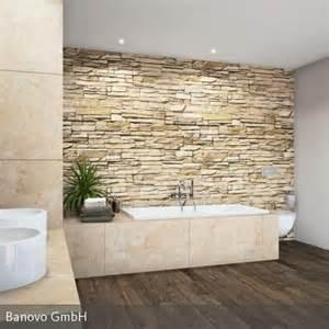 badezimmer mit naturstein steinmauer als highlight für das rustikale feeling im badezimmer highlights design und gefühle