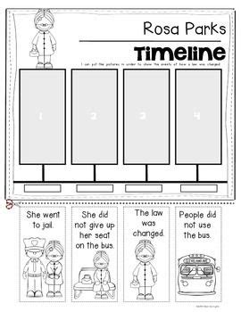 rosa parks timeline for kindergarten and grade