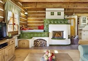Kachlová kamna s pecí na spaní