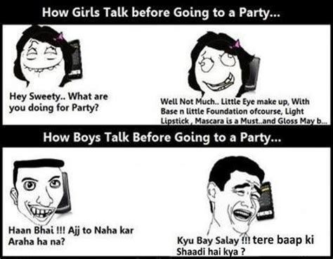partyfunny girls  boys jokes pics