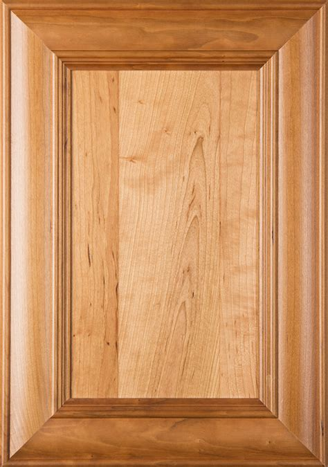 belmont cherry flat panel cabinet door  clear finish