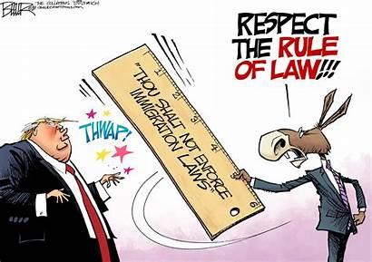 Law Rule Cartoon Political Cartoons Immigration Trump