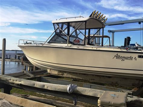 Boat Engine Upgrades by 1988 Albemarle 24 Express For Sale Well Maintained With