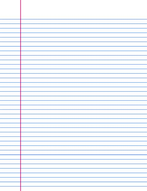Lined Paper Template A4 Lined Paper Templates Print And 15