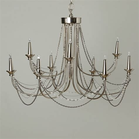 Bhs Chandelier Lighting  Silver Kinnari 9 Light