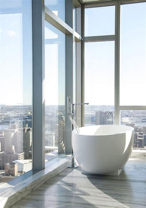 stylish  modern bathroom city view