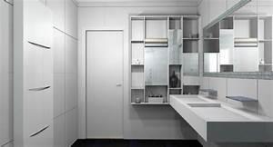 comment amenager sa salle de bain maison design bahbecom With maison en palette plan 9 poser des etageres sur la credence en rangement cuisine