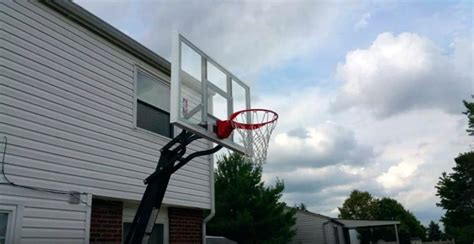 portable basketball hoops  install  home