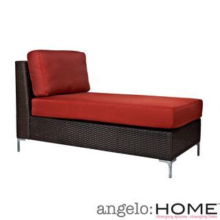 Home Depot Porch Cushions angelo home napa springs resin wicker tulip red armless