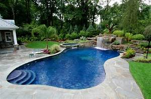 Backyard pool and spa ideas pool design ideas for Swimming pool and spa design