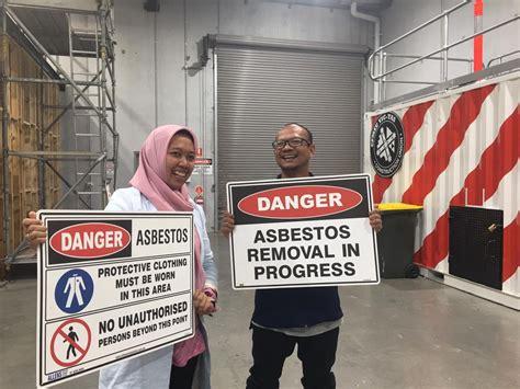 ban asbestos campaigners visit australia  training