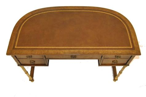 sligh lowry walnut desk burled walnut and brass writing desk by sligh for