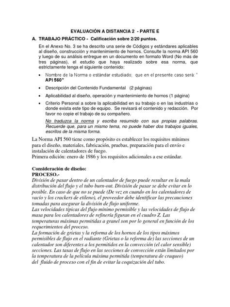 NORMA API 560 | Caldera | Tubo vacío