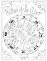 Coloring Adult Shadows Printable Magic Spells Witch Books Wiccan Grimoire Colouring Shadow Adults Sheets Magick Wicca Were Witches Witchcraft Paganism sketch template
