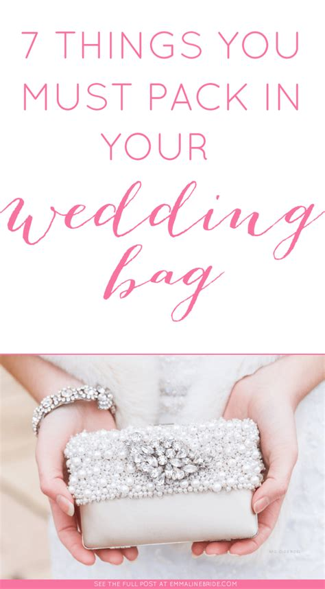 7 Things You Must Pack In Your Wedding Bag  Emmaline Bride