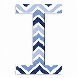 Stupell Industries Tri-Blue Chevron 18-Inch Hanging Letter ...  I