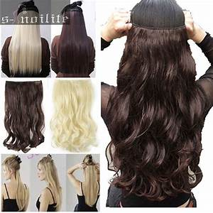 Long 100 Real Natural Hair Extensions Clip In On Hair