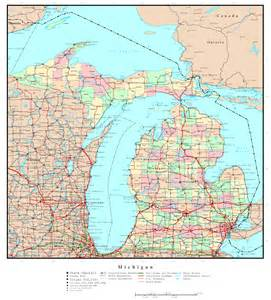Michigan Map with Cities