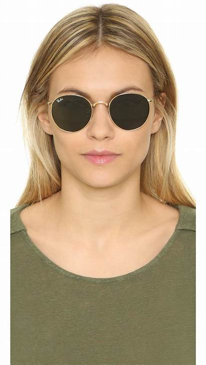 Sunglasses Round Icons Ban Ray Gold
