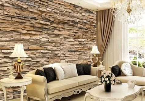 wallpaper bedroom living mural roll modern faux brick
