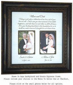 parents wedding gift wedding frame for by photoframeoriginals With gifts for parents at wedding