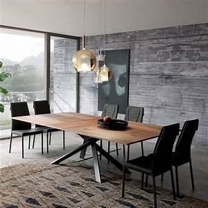 Table Bois Metal Avec Rallonge : table rectangulaire design extensible en bois et m tal visio meubles bouchiquet ~ Melissatoandfro.com Idées de Décoration