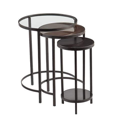 amazon nest of tables amazon com holly and martin ocelle 3 piece nesting tables