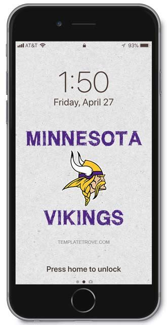 minnesota vikings lock screen schedule