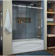 Shower And Tub Enclosures Lowes by Shop DreamLine Enigma Air 60 In W X 62 In H Frameless Bathtub Door At