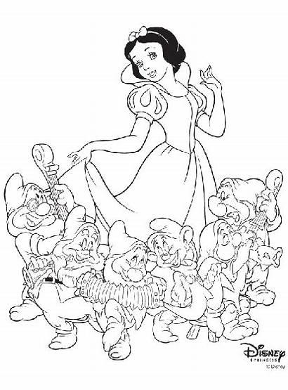 Coloring Snow Disney Princess Principesse Biancaneve Crayola
