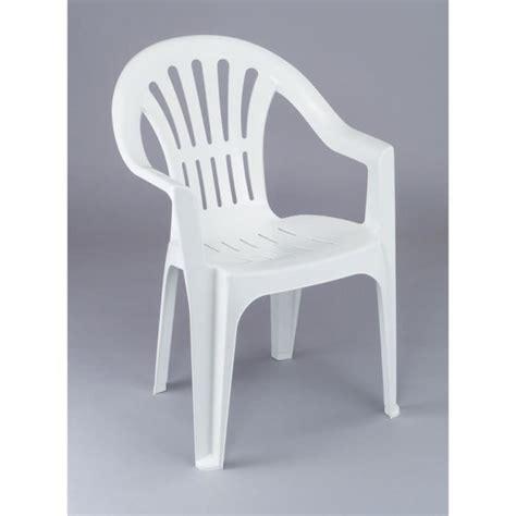 chaise longue en plastique blanc lot 12 chaises de jardin en plastique blanc elba achat