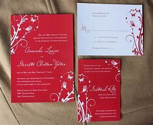 red wedding invitations red wedding invitations for your With wedding invitation design red motif