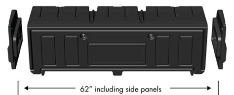 aerobox aerodynamic rear mounted truck tool box