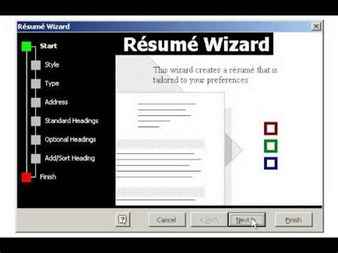 Resume Wizard In Ms Word 2010 by Creating A Resume Using The Wizard In Microsoft Word
