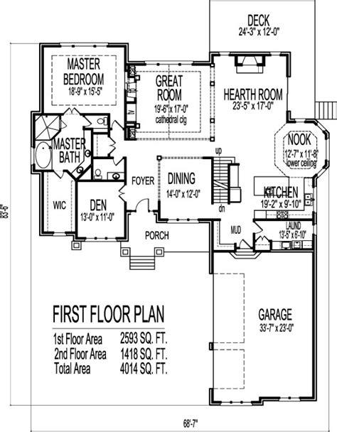 modern bungalow house floor plans  bedroom  story  car garage