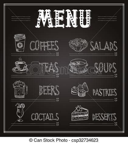 chalkboard logo templates free chalkboard menu template of food and drinks vector