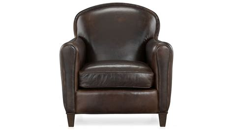 eiffel leather club chair crate and barrel