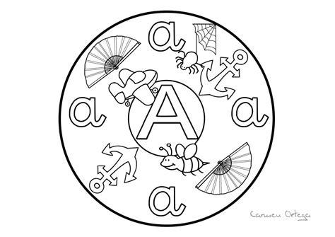 mandalas con las letras abecedario orientacion andujar