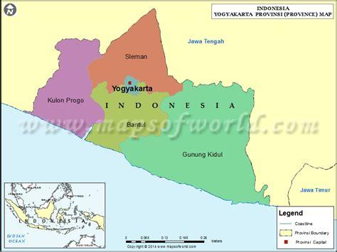 yogyakarta map map  yogyakarta province indonesia